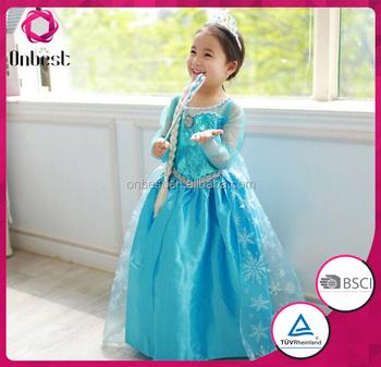 2016 Hot sale baby cute girls elsa dress cosplay costume in frozen elsa anna princess dress  sc 1 st  Alibaba Wholesale & 2016 Hot Sale Baby Cute Girls Elsa Dress Cosplay Costume In Frozen ...