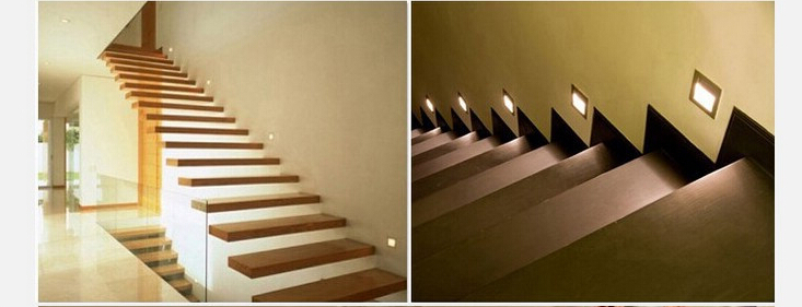 buy waterproof 1w 85 265v led stair step light recessed indoor outdoor wall. Black Bedroom Furniture Sets. Home Design Ideas