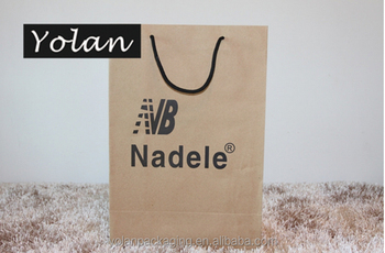 Competitive-price custom printing brown kraft paper bag with paper handle