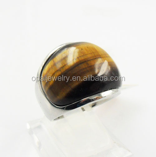 Unique Series Thick Band Broad Width Imitation Stone US Size 5#~11# ST Steel Rings