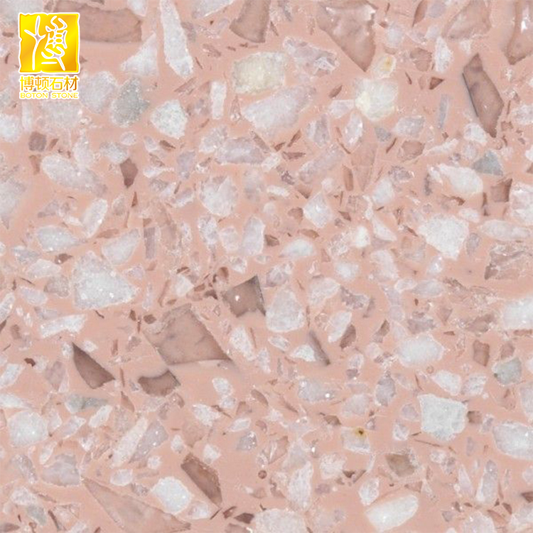 Cement Based Pink Terrazzo For Flooring Tile Buy Terrazzo Pink Terrazzo Terrazzo Flooring Tile Product On Alibaba Com