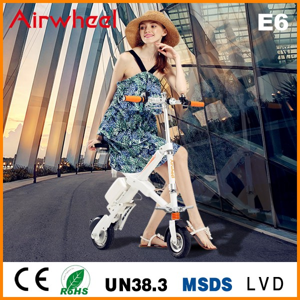 Fashion Airwheel E6 folding 2 wheel adult kick scooter for sale