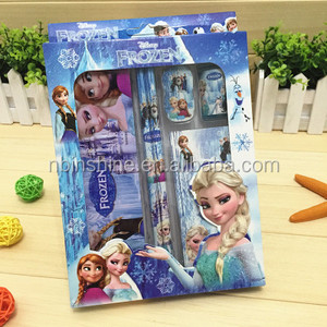 CU2434-3 2018 Back to school frozen stationery set china school stationery