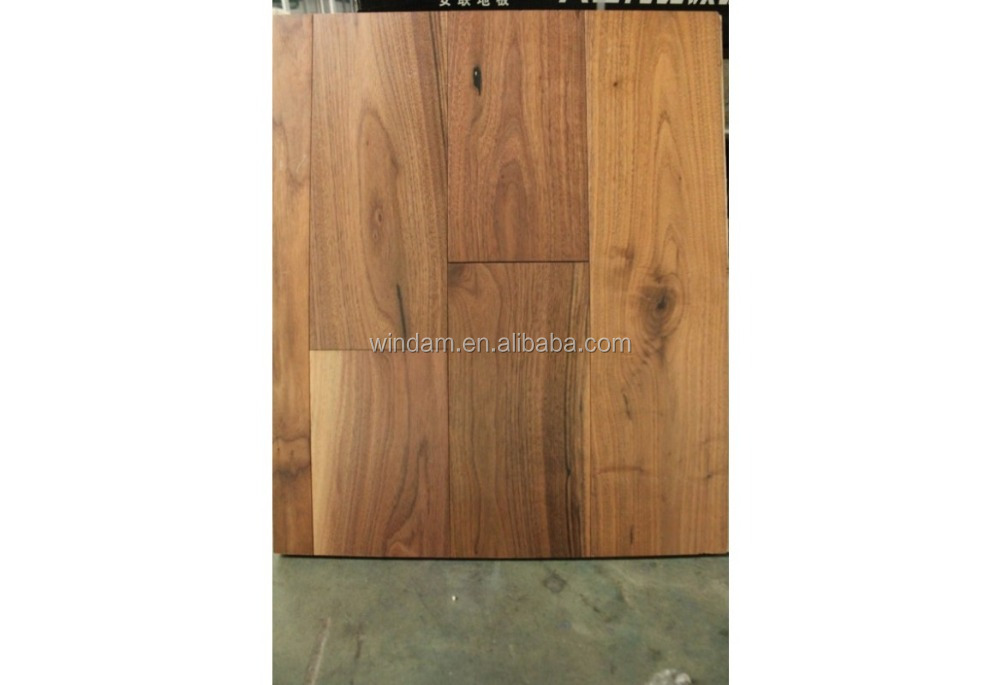 Natural oil finished wide plank walnut wood flooring