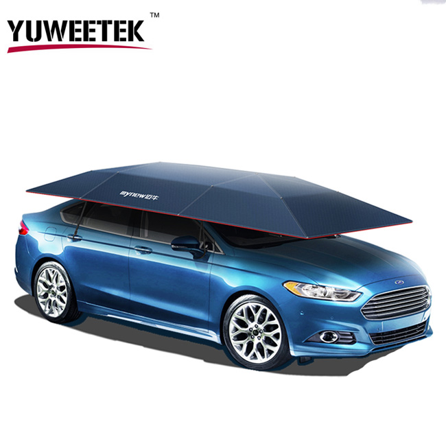 YuWeeTek Manufacturer cheap price Wholesale smart Remote car shade umbrella Automatic Screen Shade Car Top Roof Umbrella