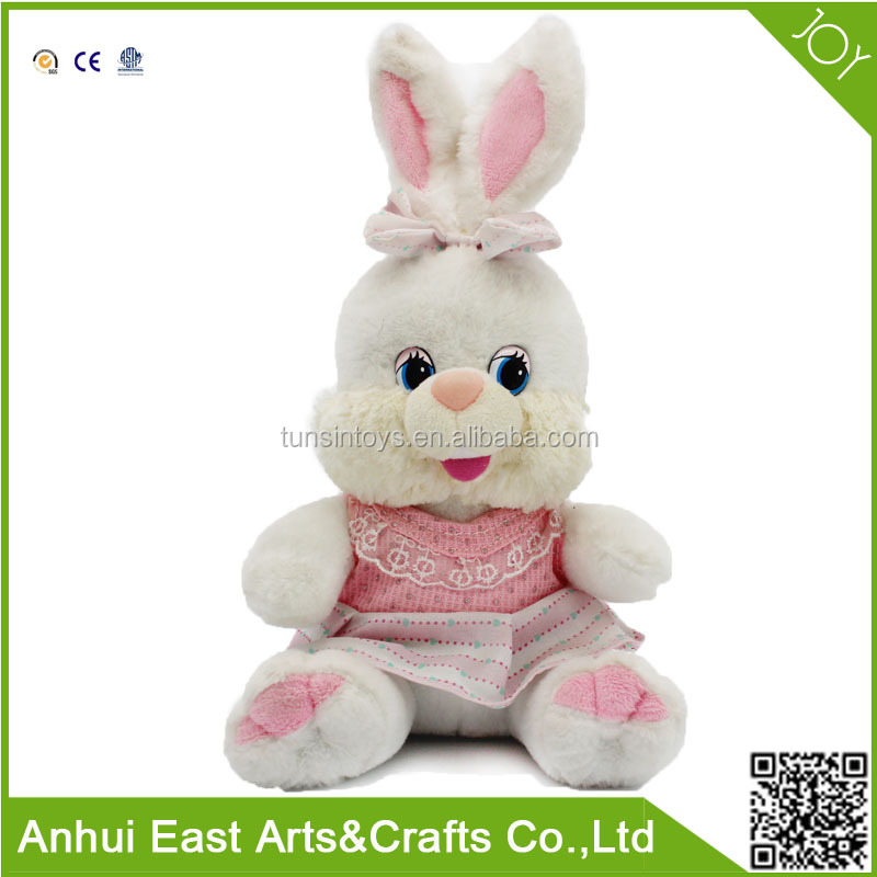 WHOLESALE PLUSH STUFFED MUSICAL RABBIT PLUSH BABY TOY FOR BIRTHDAY OR VALENTINE GIFT