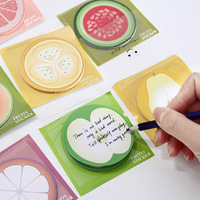 2018 France wholesale stationery price lists cartoon fruits round sticky note colorful office paper Message cute sticky notes