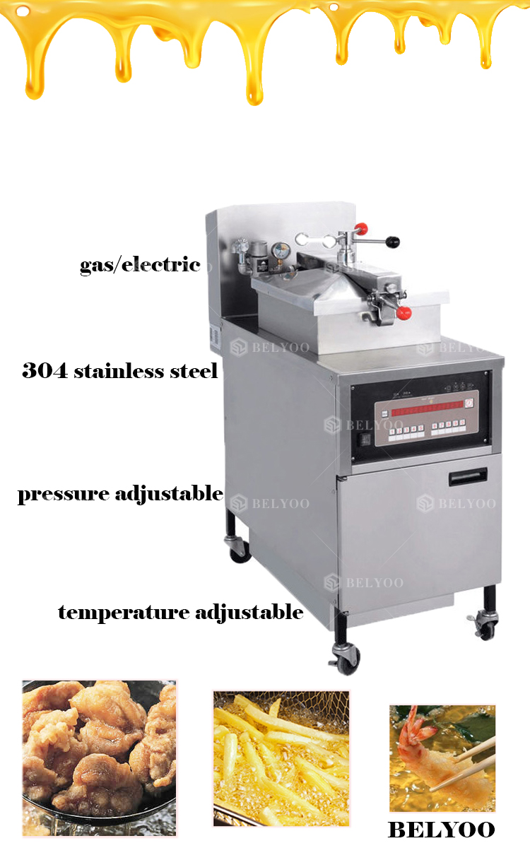 Stainless Steel Gas Deep Pressure Fryer