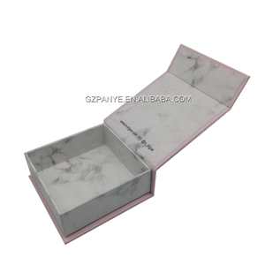 2MM Cardboard marble printing magnetic jewellery gift packaging box