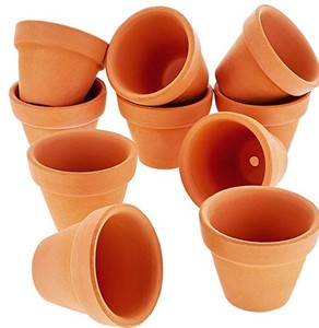 Terra Cotta Flower Pots Ceramic Pottery Clay Planters for Cacti and Succulent Plants