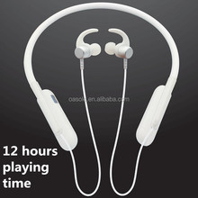 Private label 2018 new arrival sport wireless earphones Bluetooth headphones wireless earbud with 12hours long playing time