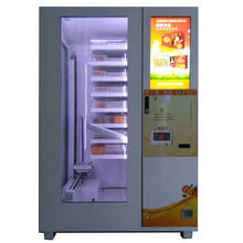 Elevator ramen fidoes and hot food vending machine with touch screen
