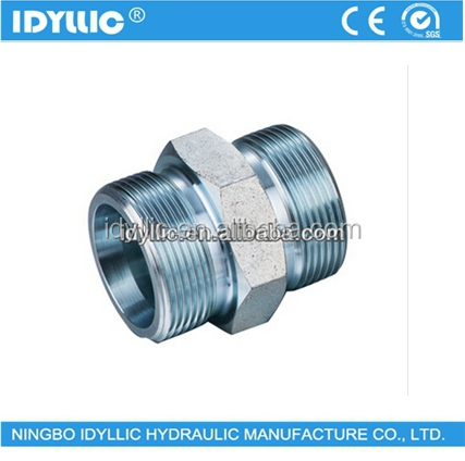 Hydraulic adaptor metric thread bite type tube adapter S series DIN 24 degree cone sleeve type straight