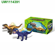 Walking Dinosaur with Flashing And Sounds Dinosaur Toys For Kids, Battery Operated Stegosaurus, Colors may vary