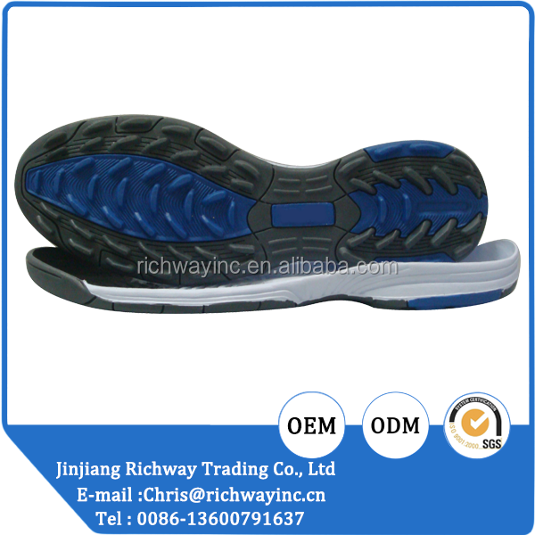 men rubber outsole RB sole for jogging shoes