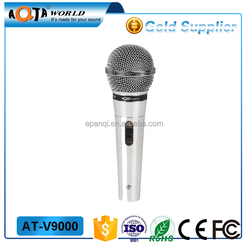 pro high sensitivity live vocal studio wired metal microphone
