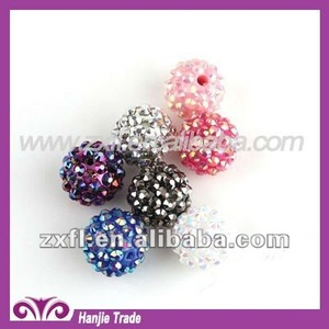 Loose Round Plastic Rhinestone Beads Mixed Color