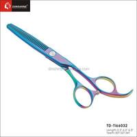 Hair scissors beautiful purple titanium /hairdresser products