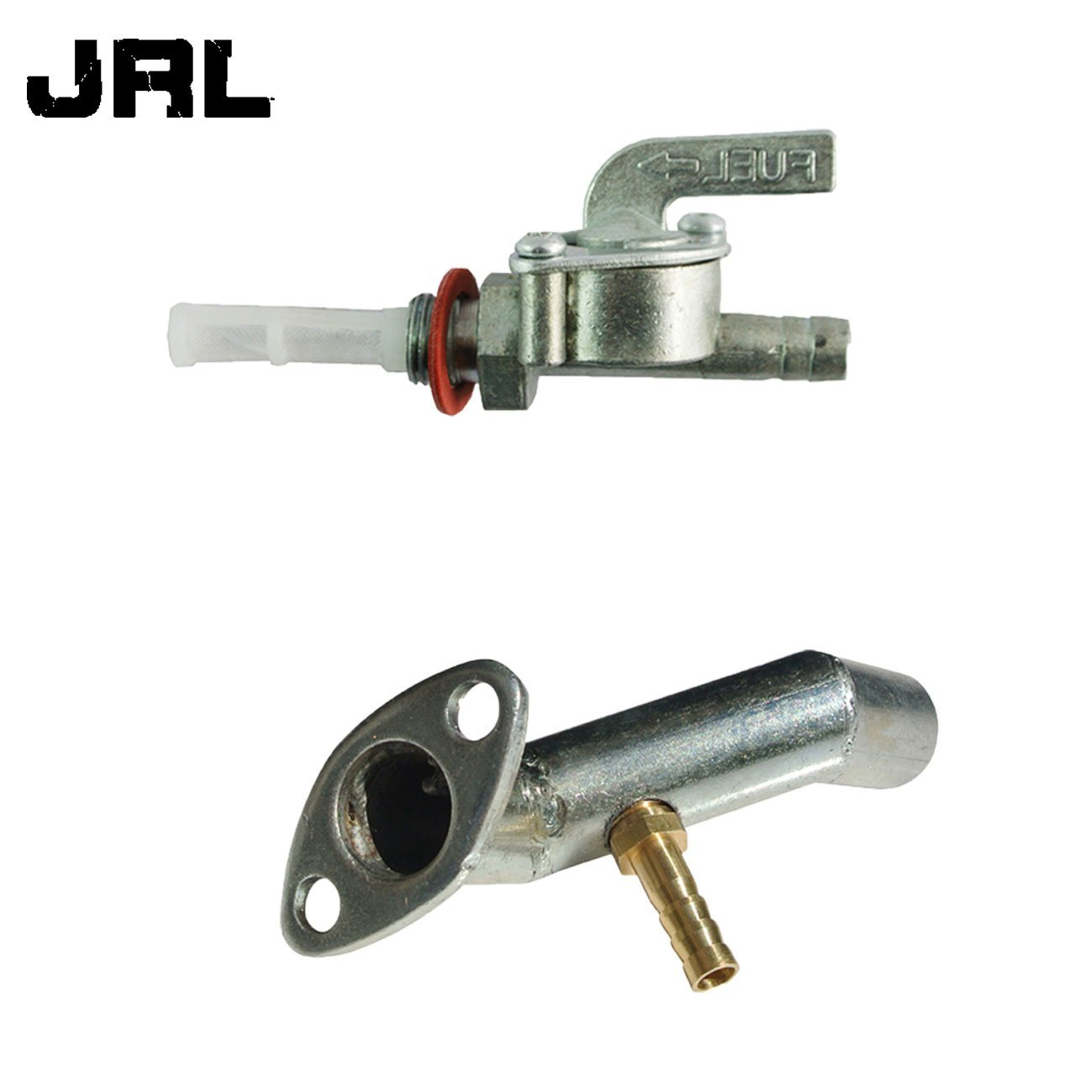 Get Quotations · JRL Fuel Tank Switch & Intake Manifold For 49/66/80cc 2  Stroke Engine