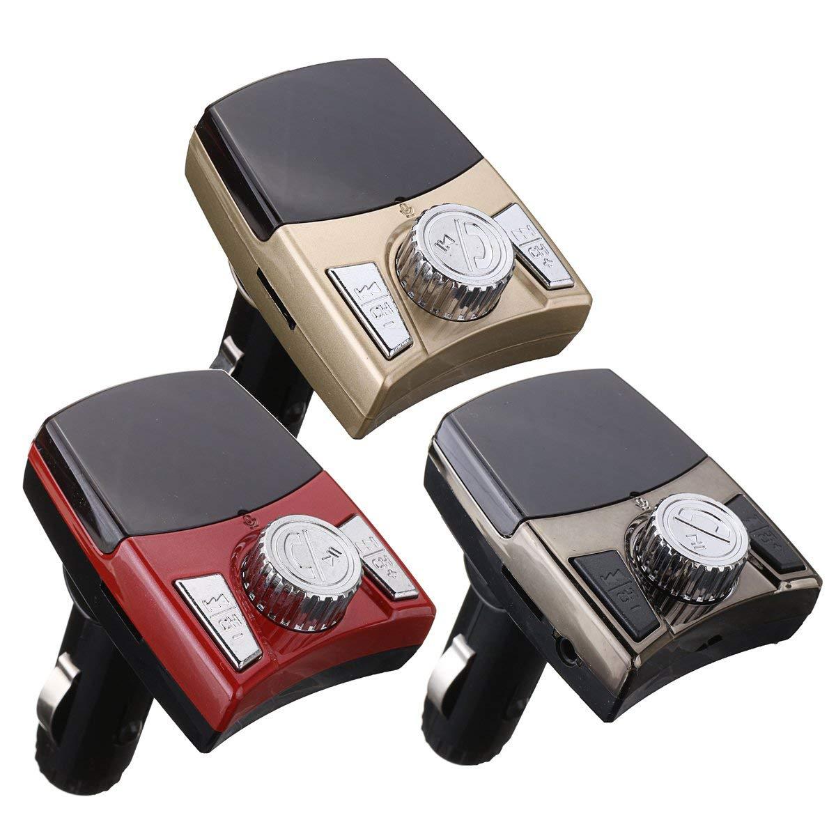 b233a87261056f Get Quotations · MAUBHYA Bluetooth Car FM Transmitter Wireless Radio  Adapter USB Charger Mp3 Player
