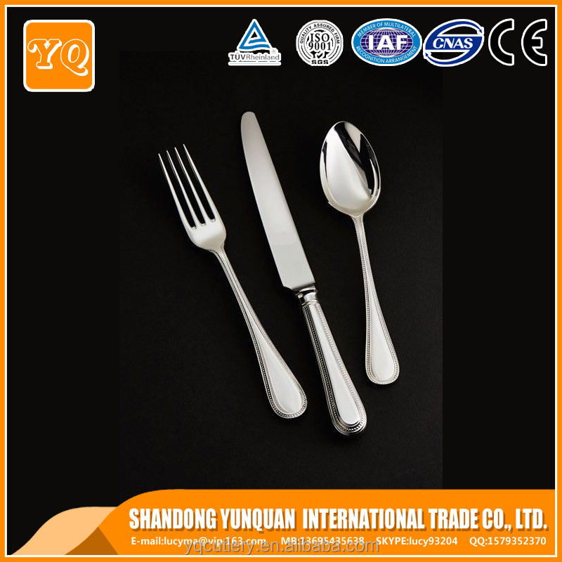 New design Flatware tableware 3 pcs cutlery set knife spoon fork factory supplier