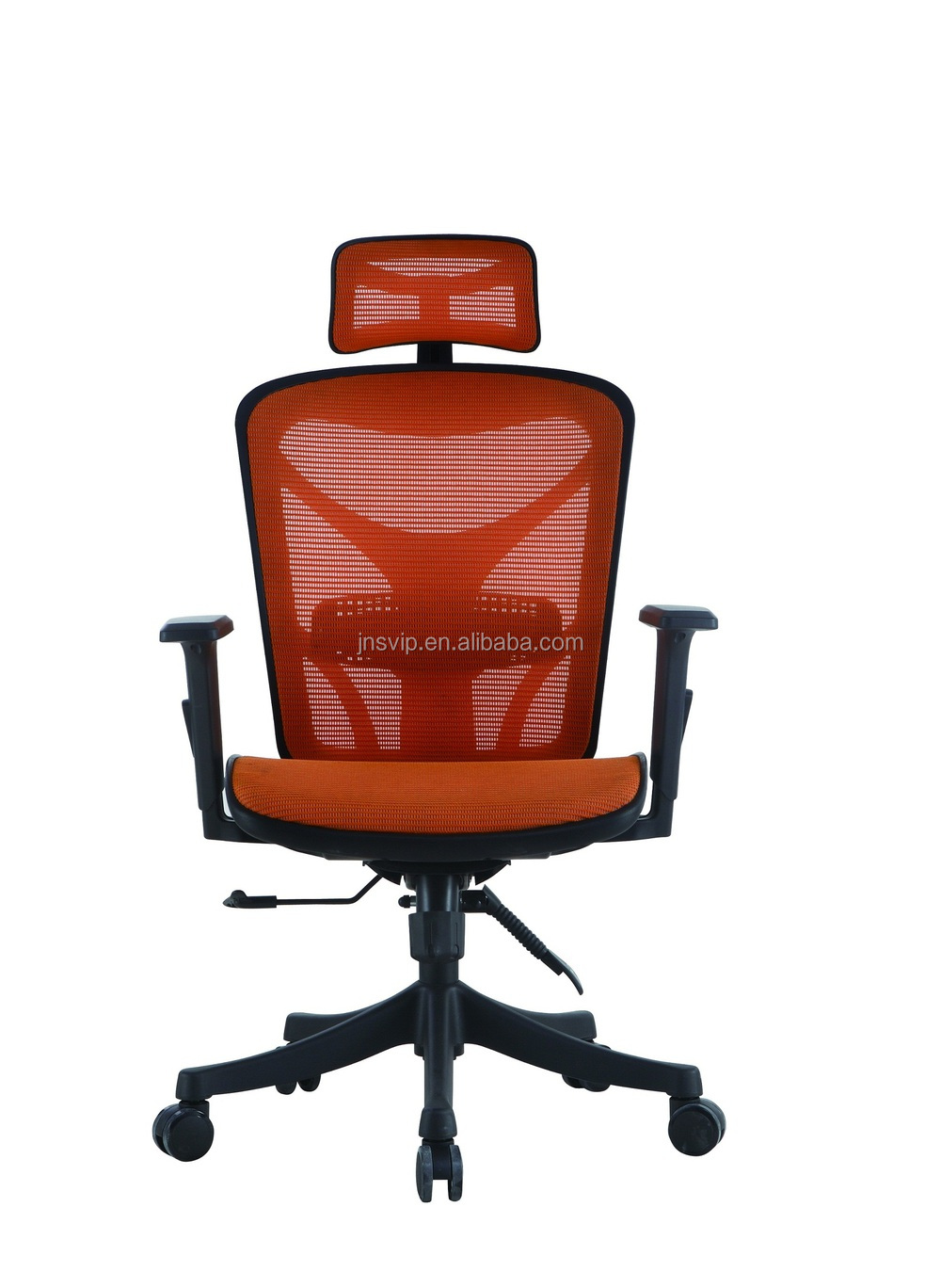 Double pole control office chair