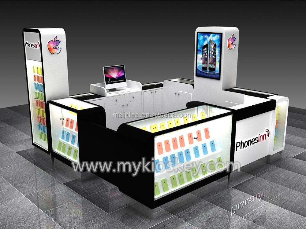 OEM/ODM Apple 3D design cell phone showcase/cell phone accessories kiosks