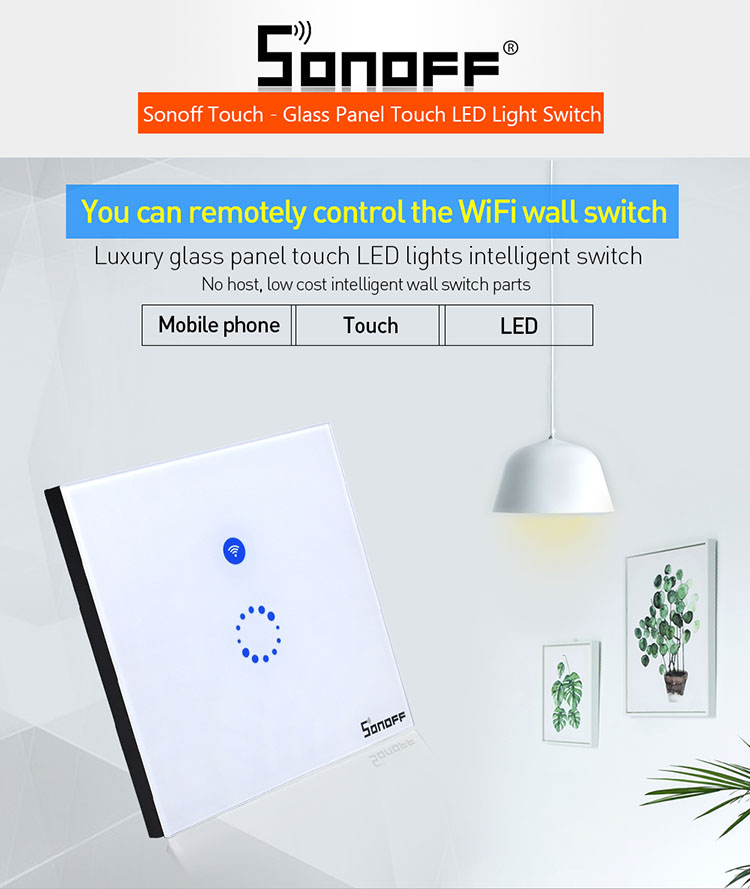 sonoff wall switch 86 wireless touch remote control smart