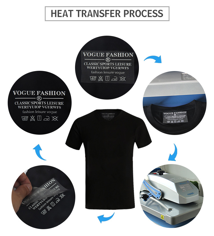 Kenteer custom iron on heat transfer neck labels for clothing