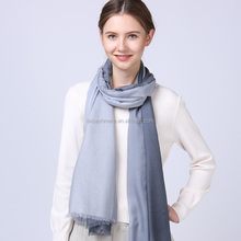 2017 latest fashion girls winter gray and light gray gradient ramp pattren knitted wool scarf