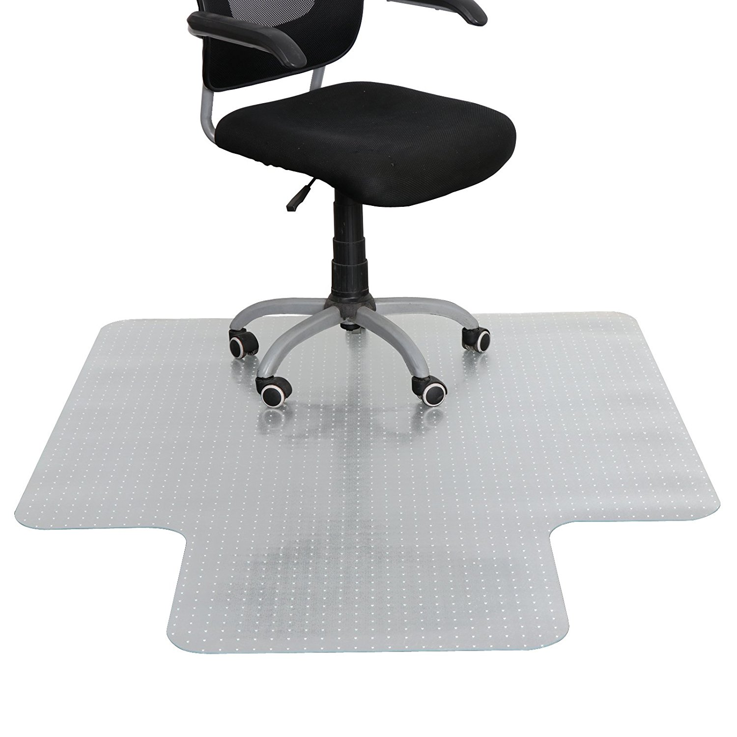 F2C 60-Inch by 48-Inch 3MM Plastic Floor Office Chair Mat Clear Protector Office Chair Rug Carpet Floor Computer Desk 1520mm x 1220mm
