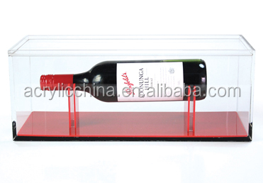 acrylic/plexiglass/lucite wine display box