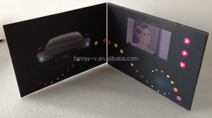 4.3inch Digital Advertising LCD video greeting cards