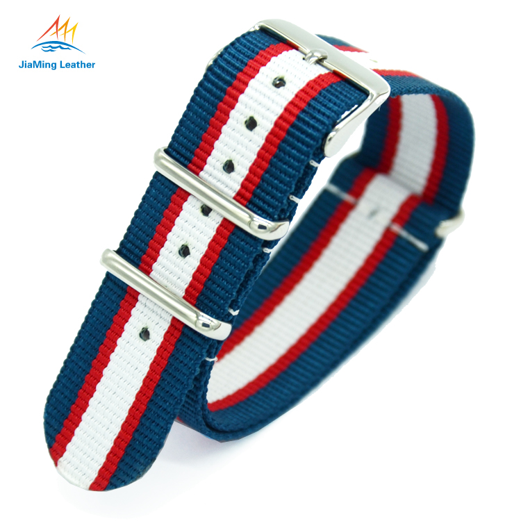 18mm 20mm 22mm 24mm zulu striped nylon strap for watches men luxury
