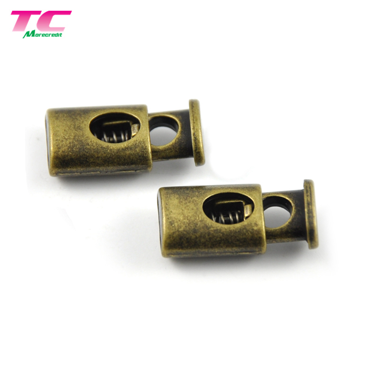 Wholesale Metal Adjustable Rope Stopper Button Hardware Factory, Metal Spring Cord Lock For Handbag Coats Jacket