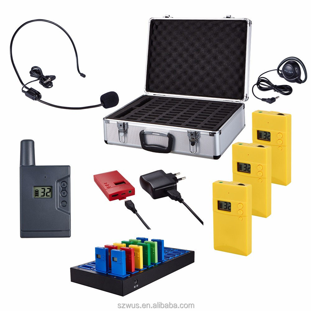 Rechargeable tour guide language translator device, Support tour guiding,meeting, translation and teaching