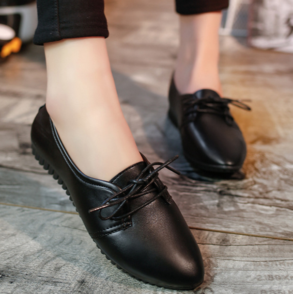4c6617a5c745 Nice design British woman PU shoes fashion girls flat shoes summer fashion  leather shoes