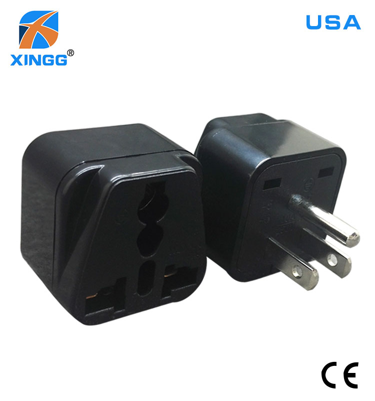 mini 10A 250V socket outlet fire retardant us travel adaptor