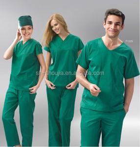 Hospital comfortable medical uniform , nurse uniform scrubs design