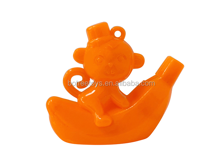 Cartoon Banana Boat Monkey Whistle Toy for 50mm Capsule