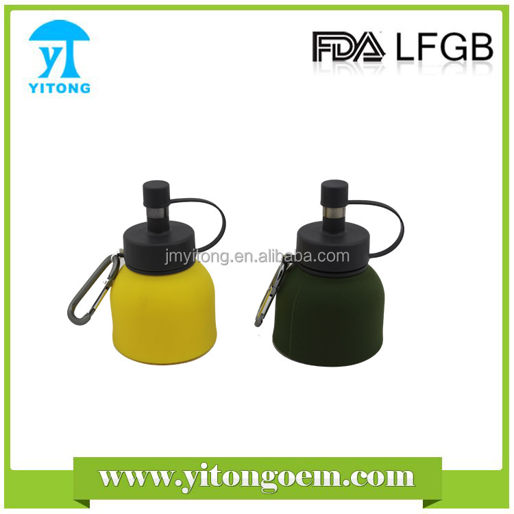 2016 new promotion 3-sizes S/M/L silicone outdoor product Silicone folding water bottle for camping