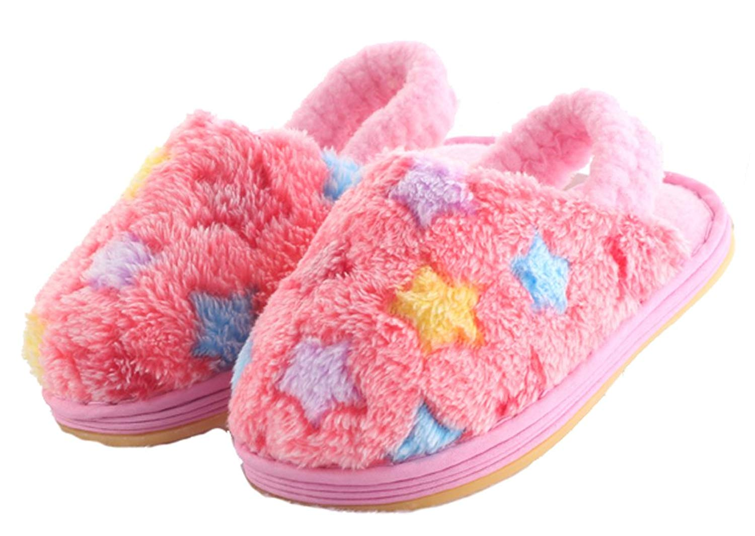 d9738b27ee56 Get Quotations · D.S.MOR Toddler Star Kids Slippers Cute Slippers House  Slippers