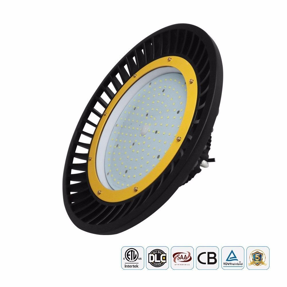 Docheer 150W UFO LED High Bay Light 19500 Lumens,(450W Eq.), 5000K Super Bright,Outdoor Indoor High Bay Lighting,Garage, Warehouse,Shop,Factory Lights AC100-277V Waterproof IP65, 5 Years Warranty