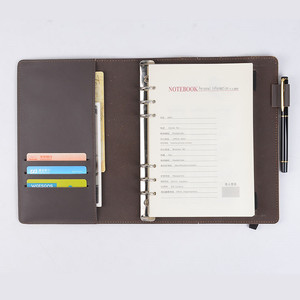 Hot Selling Notebook Genuine Leather A5 Leather Notebook Diary Ring Binder