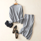 Factory Directly Wholesale Customized 100% Pure Cashmere Women Sets 2 Piece Ladies Cashmere Sweater And Skirt For Winter