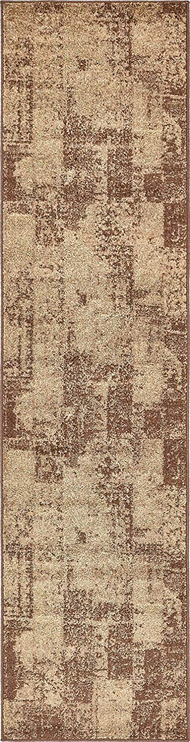 Modern Area Rug (Brown - 2' 6'' x 10'-Feet Runner) Giza Collection Home Floor Décor Rugs - Living, Dinning, Office, Rooms & Bedrrom, Hallway Carpet
