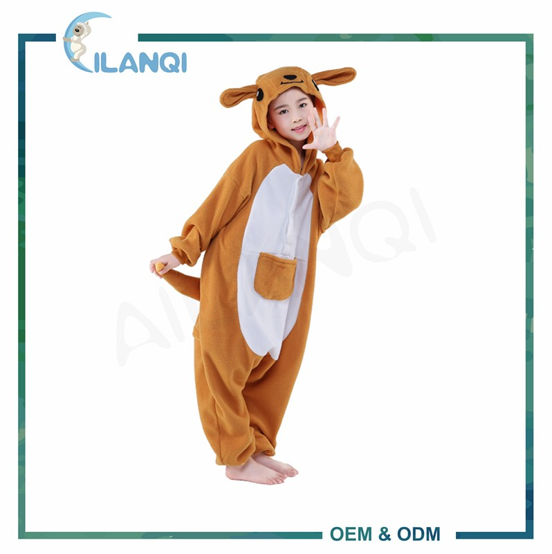 ALQ-C004 2017 New fashion polar fleece soft kids onesie pajamas