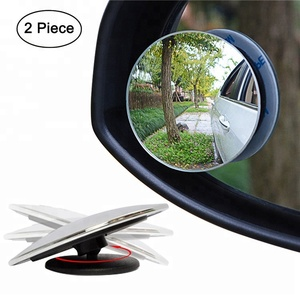 2 PCS Of Pack 2 Inch Round HD Glass Frameless Convex Car Rear View Mirror Blind Spot Mirror