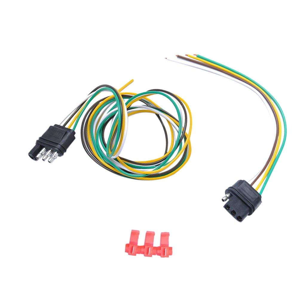 Cheap Trailer Light Socket Wiring Find Harness Lights Get Quotations Magideal 1 Pair 4 Way Round Plug Connector
