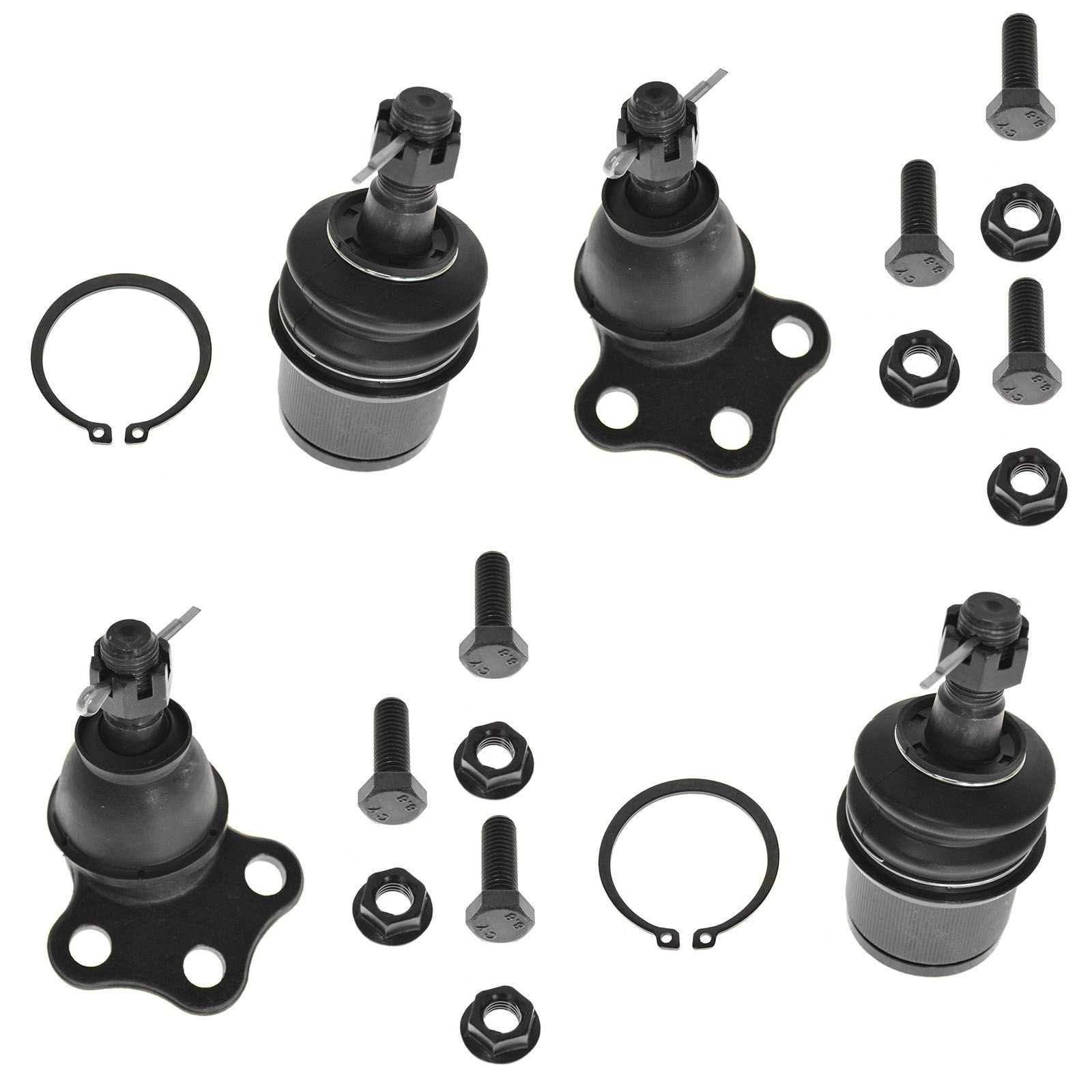 4 2006-2010 Yamaha Wolverine 450 Upper /& Lower Right Left Sides Ball Joint Set
